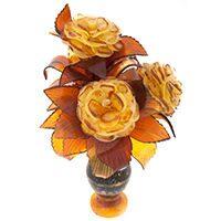 Цветы из янтаря