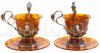 """Чайный набор из янтаря на 2 персоны """"Великие правители""""- 0"""