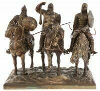"""Скульптура бронзовая """"Три богатыря"""" 40 х 60 см"""