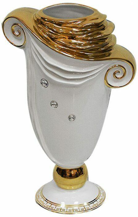 "Ваза  Ahura ""Toga Romana"" , цвет: белый с золотом- 0"