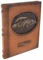 """Подарочная книга в кожаном переплёте """"Винтажные автомобили"""" (Грег Читэм)"""