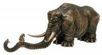 """Авторская скульптура из бронзы  Скульптуры Влада Маслова """"Запуганный слон"""""""