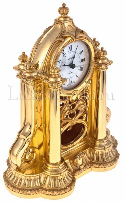 Каминные часы с маятником, цвет: золотой Linea Argenti- 1