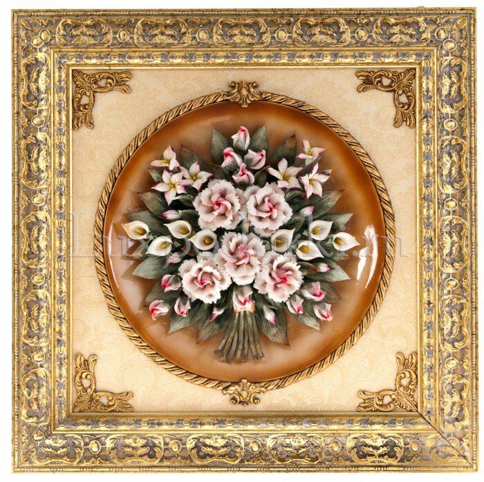 """Панно  Arte Casa """"Букет роз""""  (керамика)- 0"""