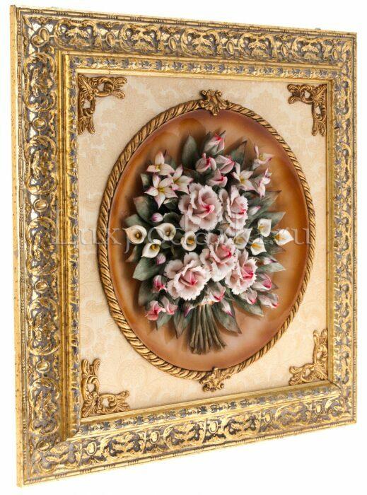 """Панно  Arte Casa """"Букет роз""""  (керамика)- 1"""