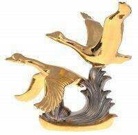 """Статуэтка  Ahura """"Летающие гуси""""  золотая с платиной"""