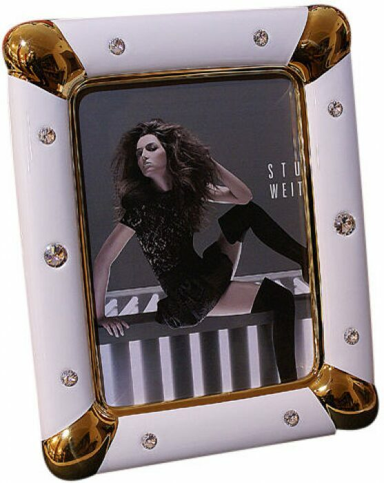 Рамка для фотографий белая с золотым Bruno Costenaro- 0
