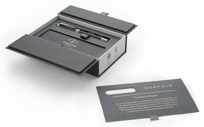 "Ручка перьевая  Parker ""Duofold""  Prestige Centennial Black Chevron CT M- 3"