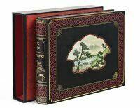 """Книга в кожаном переплёте """"Живописная Япония"""" Э.Гюмбер"""