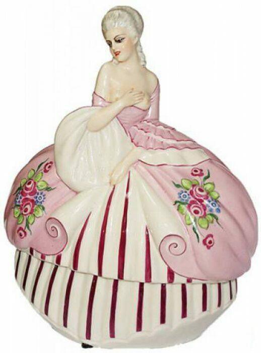 "Статуэтка-шкатулка  Elite & Fabris ""Дама в розовом платье"" - 0"