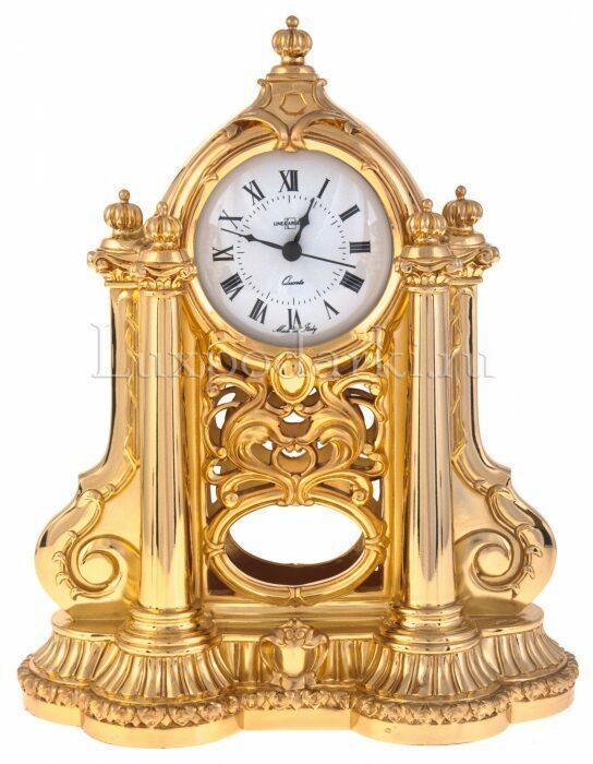 Каминные часы с маятником, цвет: золотой Linea Argenti- 0