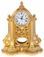 Каминные часы с маятником, цвет: золотой Linea Argenti