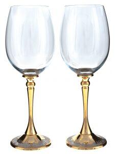 """Набор бокалов для вина """"Виноградная лоза"""" (Златоуст)"""