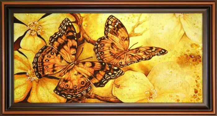 """Янтарная картина """"Бабочки""""- 0"""