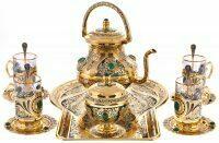 """Чайный набор """"Традиции"""" на 4 персоны (Златоуст)"""