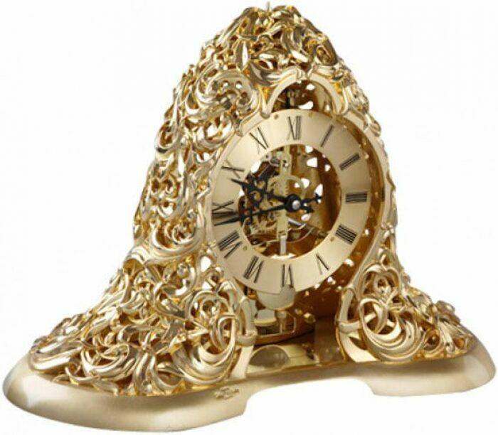 Настольные часы, декор золотого цвета Linea Argenti- 0
