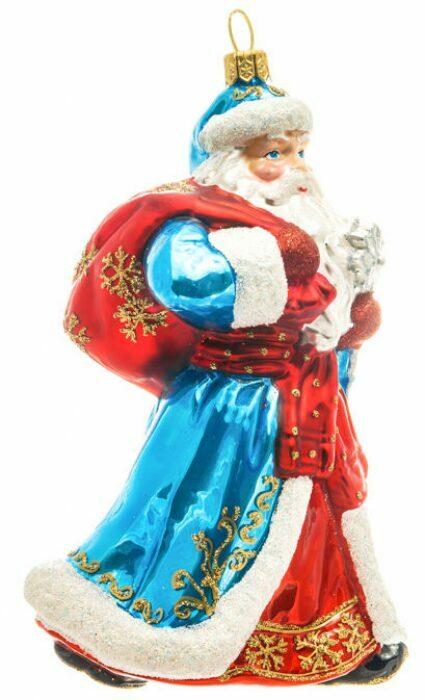 """Ёлочная игрушка """"Дед Мороз в синем тулупе""""- 1"""