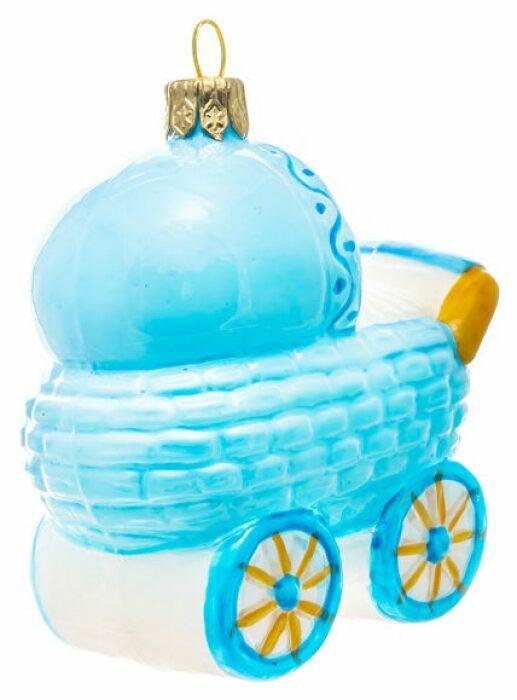 "Ёлочная игрушка ""Колясочка голубая""- 2"