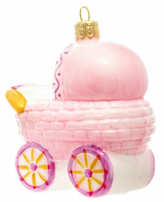 "Ёлочная игрушка ""Колясочка розовая""- 2"