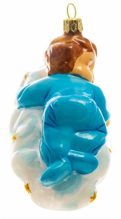"""Ёлочная игрушка """"Мальчик на облаке""""- 1"""