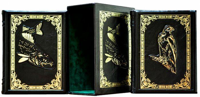 "Книги в кожаном переплете ""Охота и рыбалка"" Л.Сабанеев (2 тома, в футляре)- 4"
