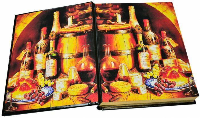 """Книга в кожаном переплете """"Вино. Атлас мира"""" (в футляре)- 4"""