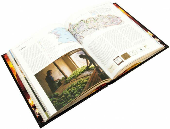 """Книга в кожаном переплете """"Вино. Атлас мира"""" (в футляре)- 5"""
