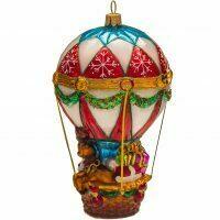 "Ёлочная игрушка ""Дед Мороз на воздушном шаре"""