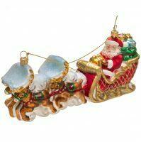 """Ёлочная игрушка """"Дед Мороз на оленьей упряжке"""""""