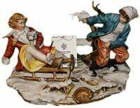 """Статуэтка  Porcellane Principe """"Забавы на санях"""""""