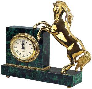 """Каминные часы """"Конь"""""""