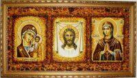 Янтарная тройная икона