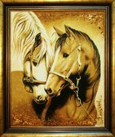 "Янтарная картина ""Лошадки"""
