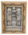 Икона серебряная Петр и Февронья, модерн багет (средняя)