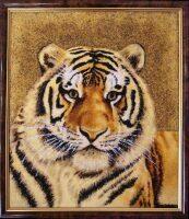 """Янтарная картина """"Тигр"""""""