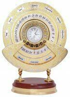 """Вечный календарь """"Величественный"""" с часами (Златоуст)"""