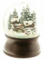 """Стеклянный шар со снегом """"Снежная деревня"""" с подсветкой"""