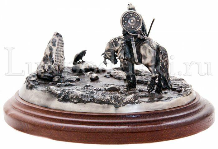 """Скульптура бронзовая """"На распутье""""- 3"""