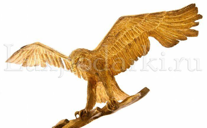 """Скульптура """"Орел на ветке""""- 2"""