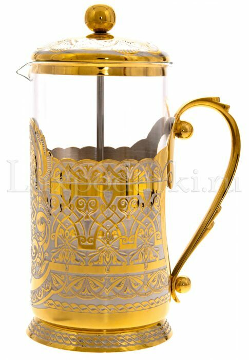 """Френч-пресс для заварки чая и кофе """"Элитный"""" (Златоуст)- 0"""