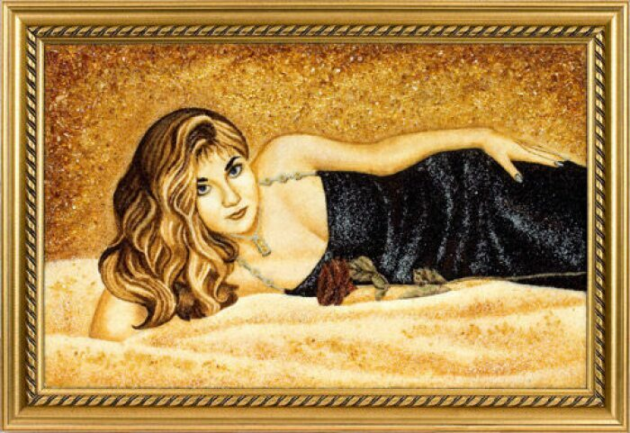 Персональный портрет из янтаря- 0