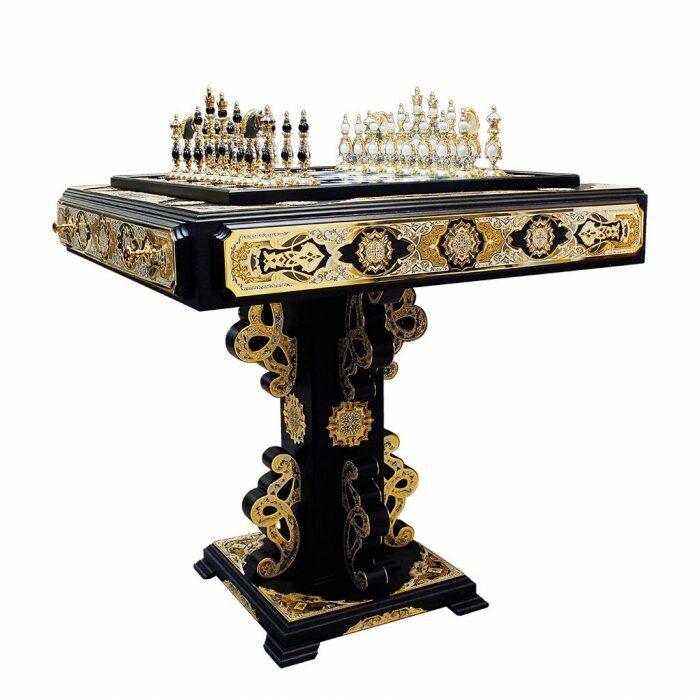 """Шахматный стол """"Битва двух королей"""" (Златоуст)- 0"""