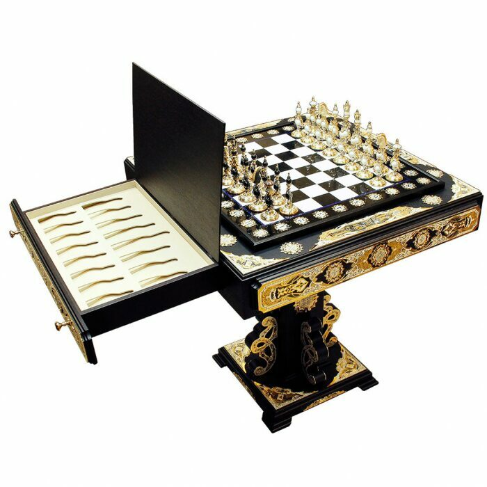 """Шахматный стол """"Битва двух королей"""" (Златоуст)- 1"""
