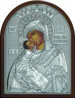 """Серебряная икона Богородица """"Владимирская"""" 19 x 25 см"""
