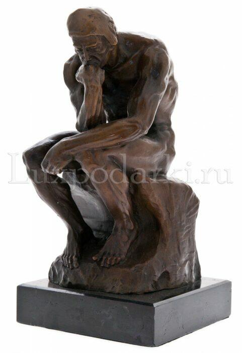 """Скульптура бронзовая """"Мыслитель. Роден""""- 0"""
