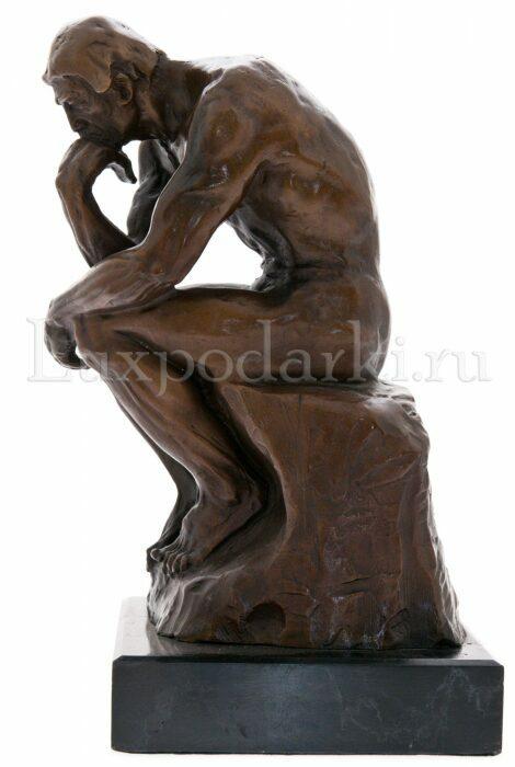 """Скульптура бронзовая """"Мыслитель. Роден""""- 1"""