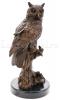 """Скульптура из бронзы """"Сова""""- 1"""