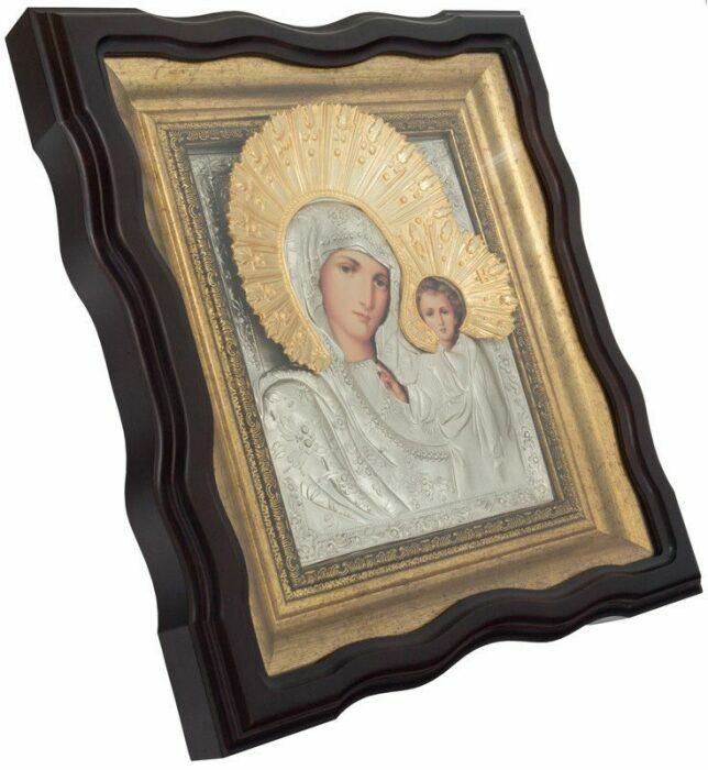 """Икона """"Казанская икона Божией Матери"""" под стеклом- 1"""
