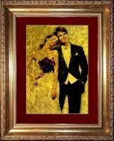 Ваша свадебная фотография на сусальном золоте