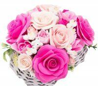"""Букет керамический """"Сердце из роз"""""""